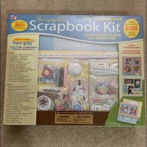 Brand new scrapbook kits (2) and chipboard kit (1)
